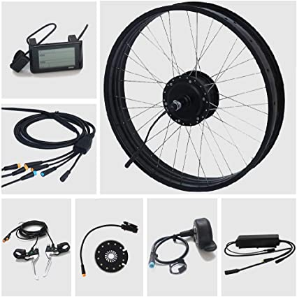 TZIPower Kit de conversión de Bicicleta eléctrica Fat Bike, 26 ...