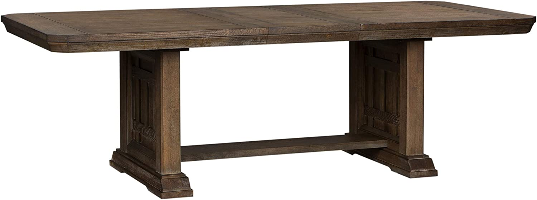 Liberty Furniture Industries Artisan Prairie Trestle Table, W40 x D96 x H30, Dark Brown