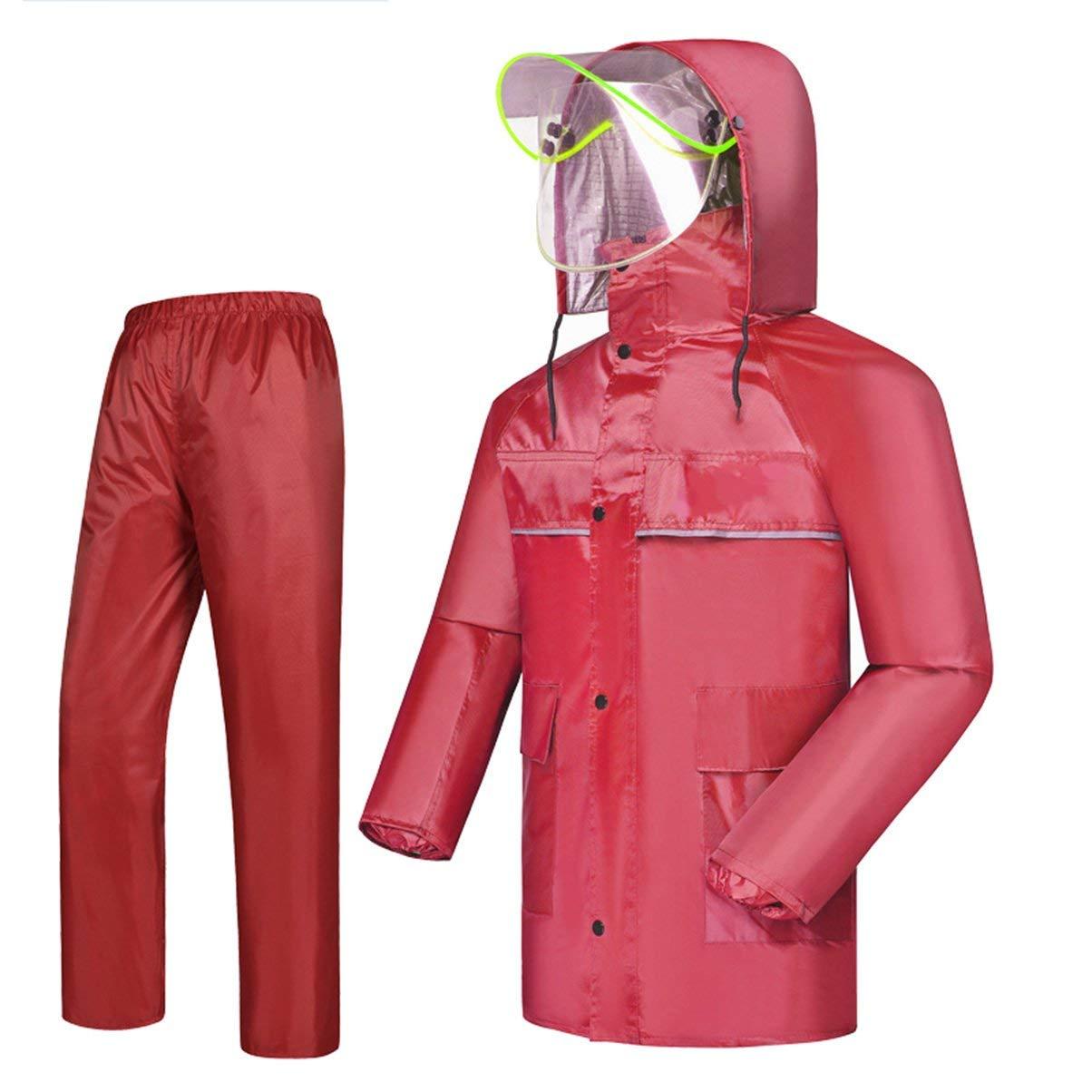 レインコート、男性用、レディース用レインコート、ファッションレインコート、レインプルーフファブリック、レインプルーフおよび通気性(カラー:F-L) B07SL2YY94