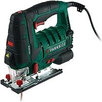 Parkside® Scie sauteuse pendulaire pstd 800B2Guidage laser et lumière de travail LED, fonction souffleur pour spanfreie ligne de coupe, raccord pour aspiration des poussières externes, 800W