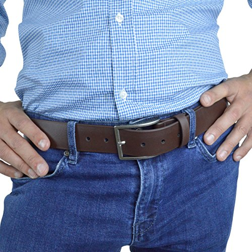 Indestructible Vegan Belt, Genuine Non Leather Belt with Italian Belt Buckle, Dress Belt for Men Made with Environmentally Friendly Material Fused with Nylon, Truth Slug (Brown, 36)