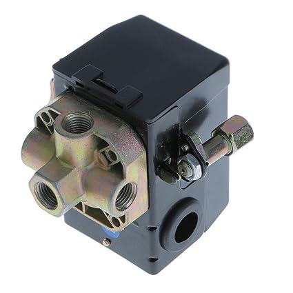 Interruptor de Presión Compresor de Aire Válvula Control Horizontal de 4 Puertos SG-5B
