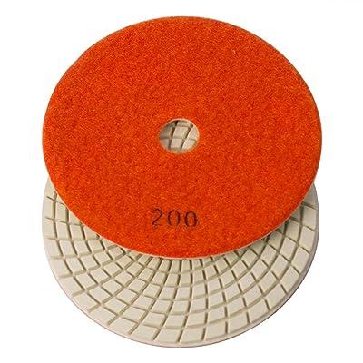 "E5200 Specialty Diamond Resin Diamond Polishing Pad, 5"" 200 Grit - 3mm: Home Improvement"