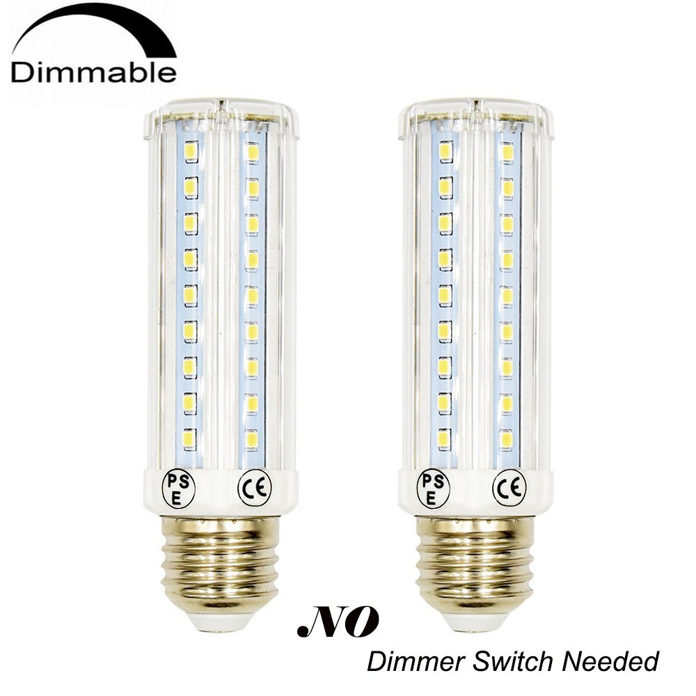 3 Way Led Corn Light Medium E26 Base Bulb Lustaled 10 5 25w Dimmer Switch Dimmable T10 Tubular Lamp 75 35 20w Incandescent Equivalent For Reading Ceiling