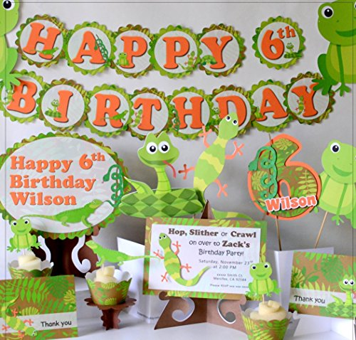 Reptile Snake Birthday Banner Party Decorations Supplies