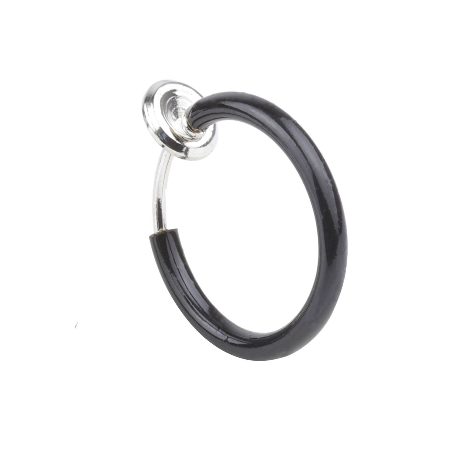 A+ 1Pcs 8mm Non Piercing Septum Piercing Spring Action Fake Body Jewelry Hoop Fashion Piercing Jewelry