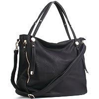 Uncle.Y Women's Handbags Vintage PU Leather Tote Shoulder Bag Large Capacity