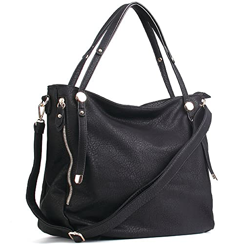 87261c5685de Uncle.Y Women's Handbags Vintage PU Leather Tote Shoulder Bag Large Capacity
