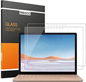 Megoo [2 Pack] Tempered Glass Screen Protector for Microsoft Surface Laptop 3 (15 inch), Easy Installation, 2.5D Round, High Transparency Screen Protector