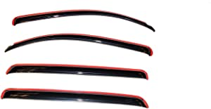 Auto Ventshade 194309 In-Channel Ventvisor Side Window Deflector, 4-Piece Set for 2007-2018 Toyota Tundra CrewMax
