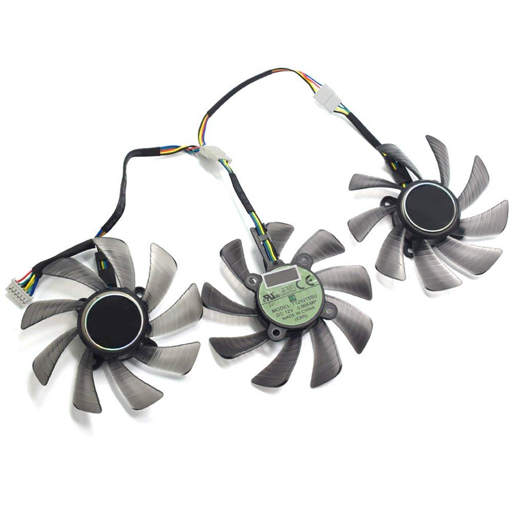 85MM T129215SU GTX 1060 1070 1080 RX470 RX 470 480 580 R9 390 GTX980Ti Fan For ASUS STRIX Raptor Fan