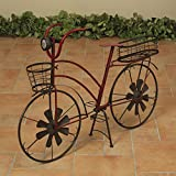 Cheap 37 Inch Solar Lighted Metal Bicycle Planter Stand – Indoor / Outdoor Use