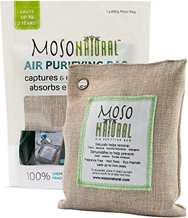 5 Pack Bamboo Moso Natural Fresh Air Purifying Bags Activated Charcoal Mold Odor