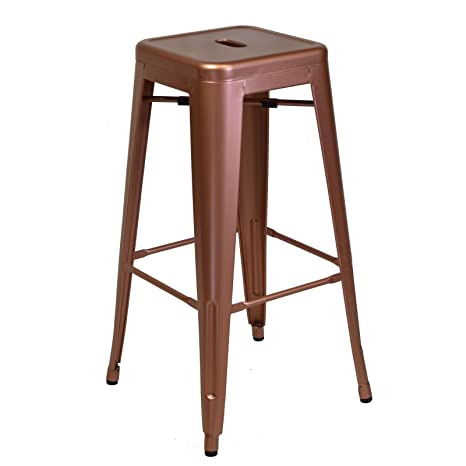 Admirable Amazon Com Metal Tolix Style Counter Height Bar Stool Unemploymentrelief Wooden Chair Designs For Living Room Unemploymentrelieforg