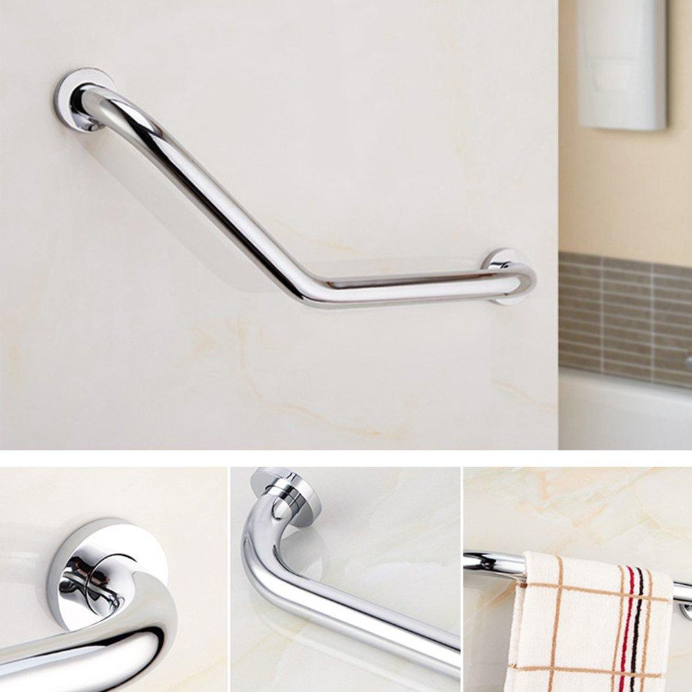 L-shaped Bathroom Bathtub Handrail, Stainless Steel Chromed Shower ...