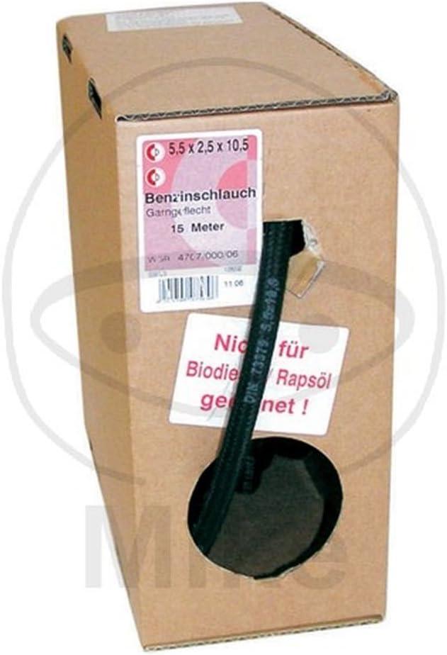 Dresselhaus 0//4707//000//7,5//12,5// //06 Benzinschlauch Kraftstoffschlauch mit Garngeflecht nach DIN 73379 Inhalt je Spule-15 Meter 1 St/ück 7,5 x 12,5