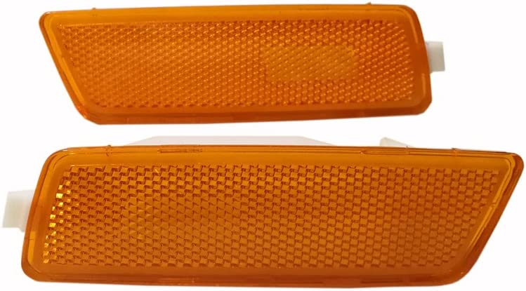 Smoke GSRECY Pair for 06-09 MK5 Rabbit//GTI////GLI Jetta Front Bumper Side Marker Lights Lamp