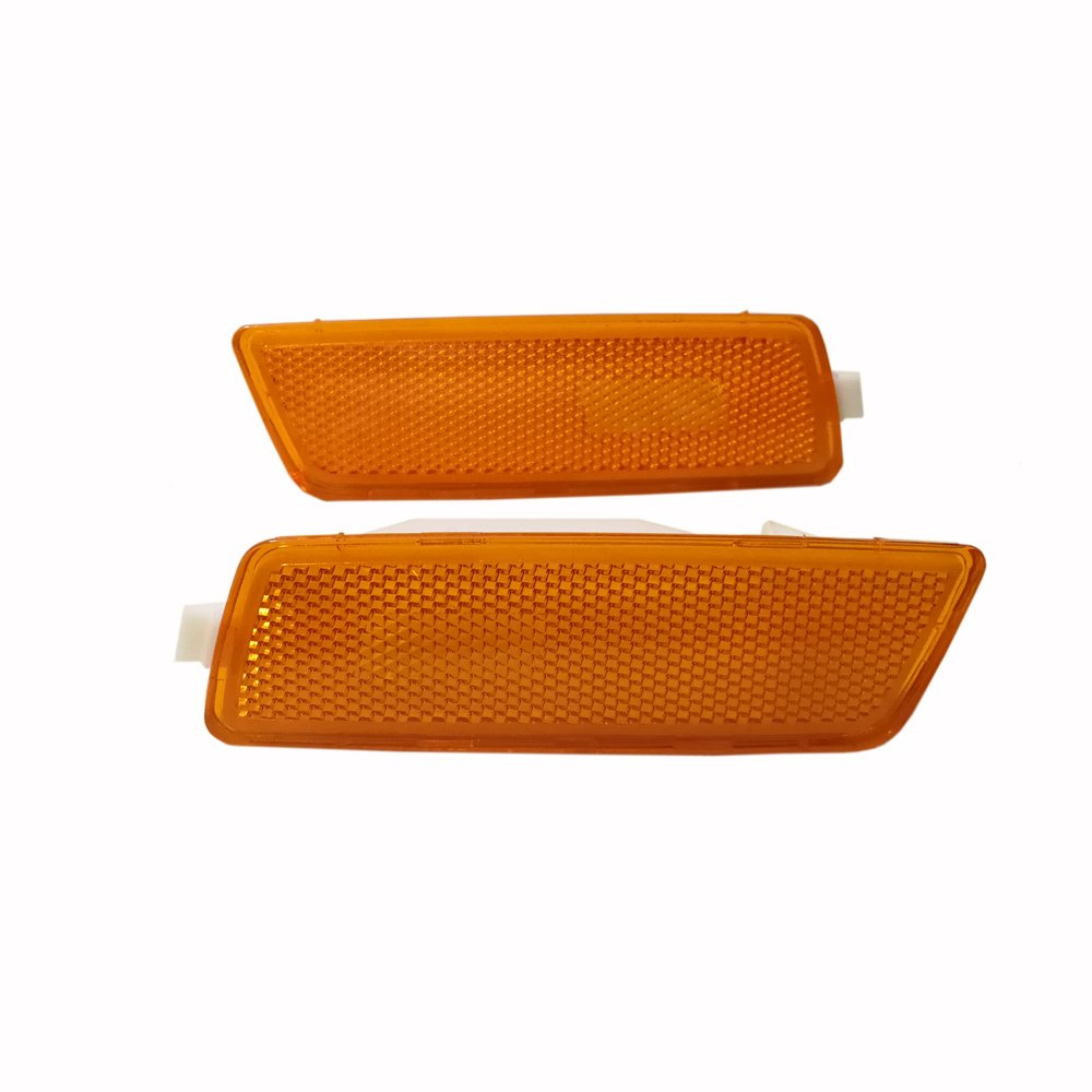 GSRECY For 06-09 VW MK5 RABBIT//GTI////GLI JETTA Amber Front Bumper Side Marker Lights Lamp Pack of 2