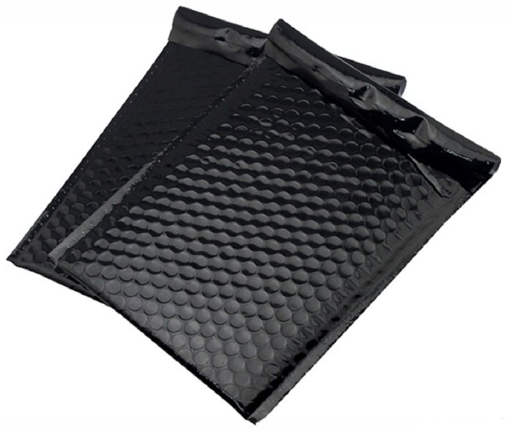 Poly Bubble mailers Padded envelopes 9.5 x 13.5. Pack of 10 Large Black cushion envelopes 9 1/2 x 13 1/2. Exterior size 10x14. Peel-N-Seal. Mailing & shipping & packaging & wrapping. Mfg# 10x13. by Amiff (Image #1)