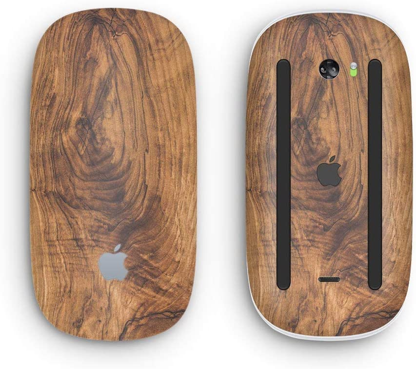 Design Skinz Premium Vinyl Decal for The Apple Magic Mouse 2 Raw Wood Planks V11 with Multi-Touch Surface Wireless, Rechargable