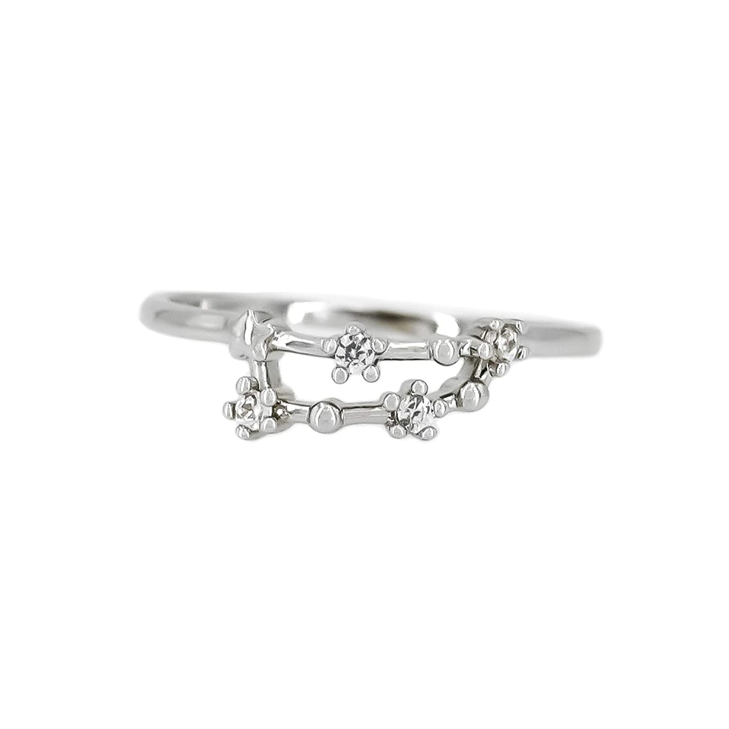 Zodiac Constellation Ring with Cubic Zirconia Stones Made of Zinc, Steel & Brass. Birthday Gift. Choice by Choi