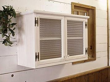 和音オリジナル リメイク家具 古い障子戸を活用した小振りな壁掛け戸棚(ウォール
