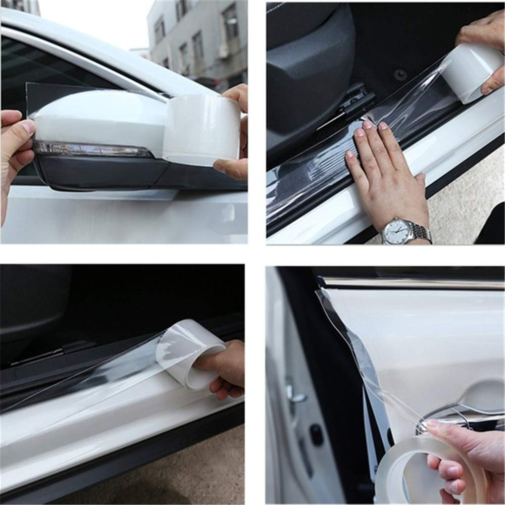 L-DiscountStore Clear Paint Protection Film Set Transparent Paint Film Car Protection Film Roll to Protect your car from Scraping paint damage