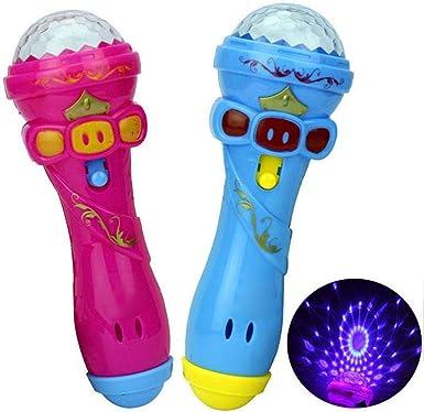 Amazon.com: Fanala - Micrófono LED intermitente de juguete ...