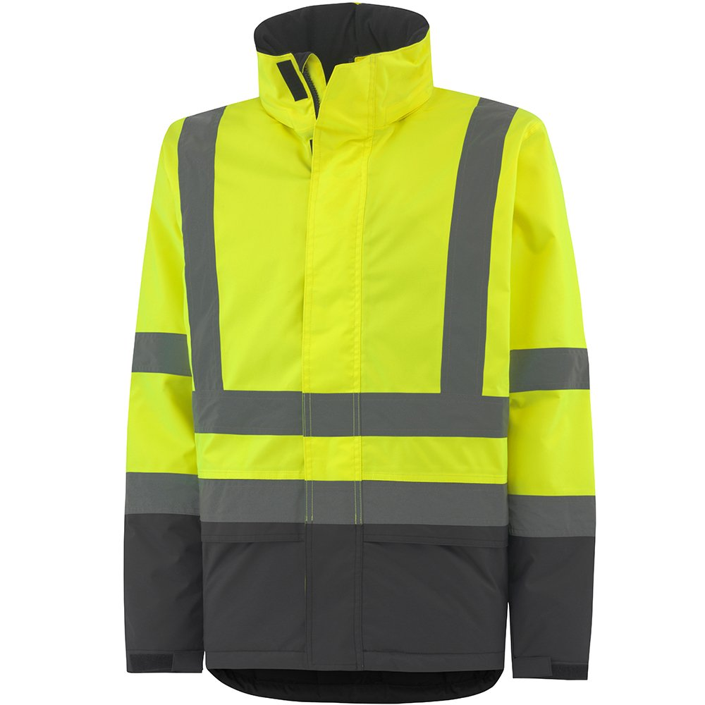 Helly Hansen 70335_369-XS Alta Insulated Hi-Vis Jacket, X-Small, Yellow/Charcoal