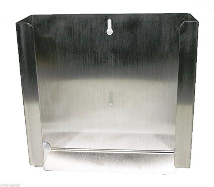 Dispensador de soporte de pared de acero inoxidable soporte de pared Guante dispensador boxhalter