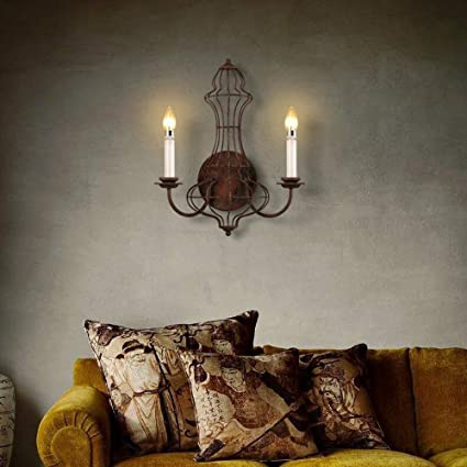 XQY Home Decoration Wall Lamp Hotel Cafe Restaurant LampsIndustrial Wind Retro Double