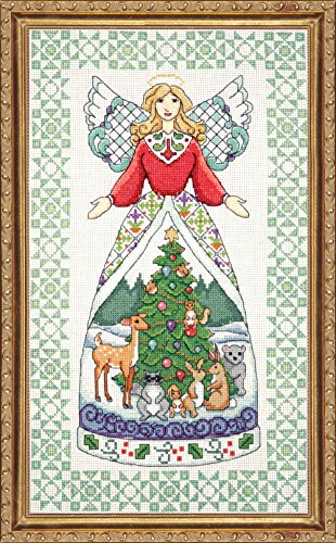 Tobin DW2809 14 Count Counted Cross Stitch Kit, 9 by 15-Inch, Winter Angel-Jim Shore (Stitch Shore Jim Cross)
