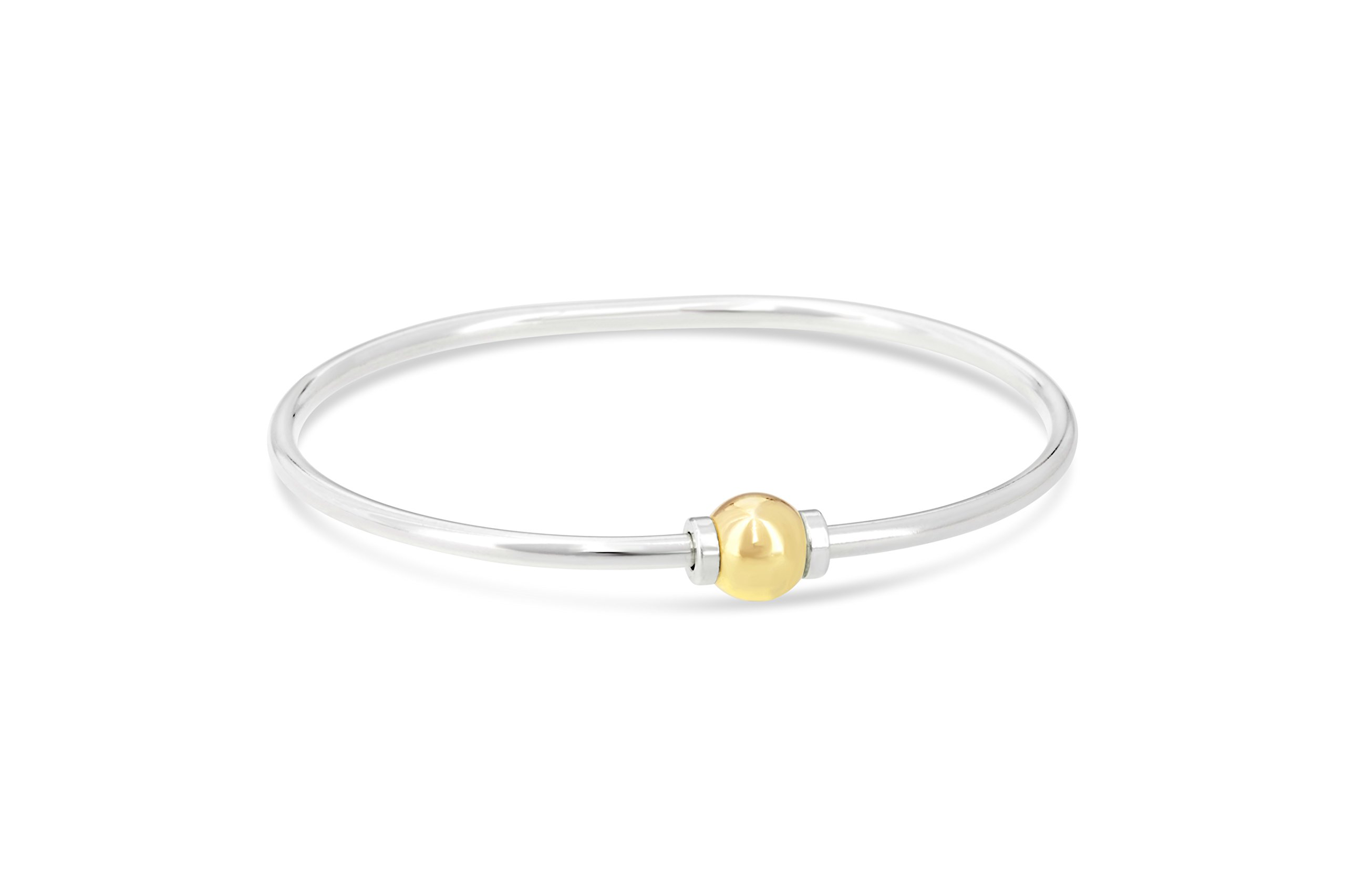 The Beach Ball Bracelet From Cape Cod 925 sterling silver and 14k solid gold ball (7.5)
