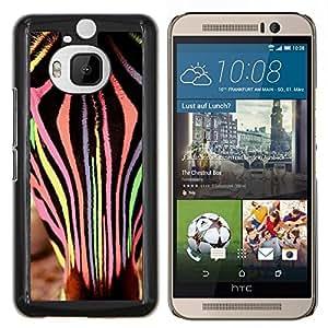 YiPhone /// Prima de resorte delgada de la cubierta del caso de Shell Armor - Zebra Art Stripes Naranja Rosa - HTC One M9Plus M9+ M9 Plus