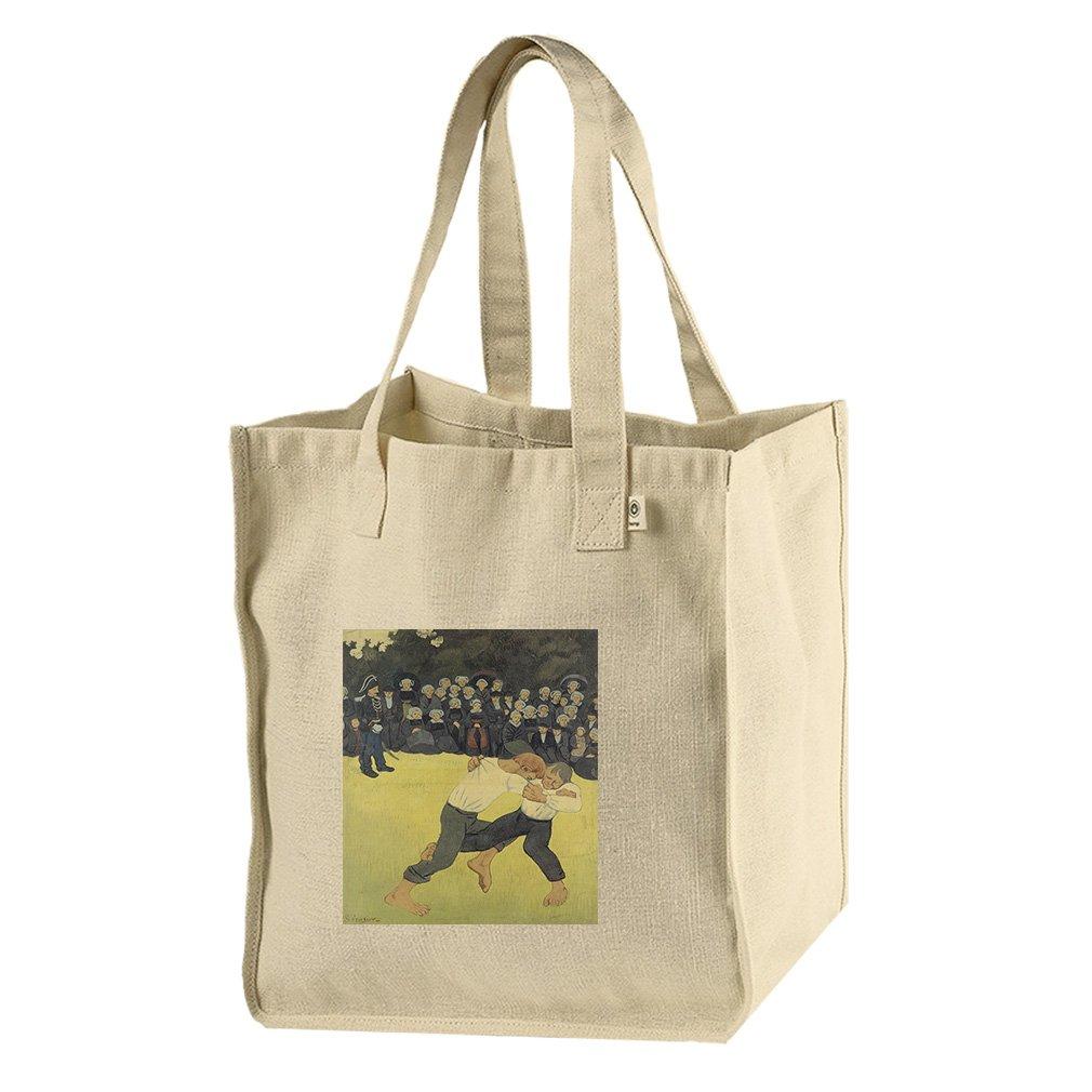Breton Wrestling (Paul Serusier) Hemp/Cotton Canvas Market Bag Tote