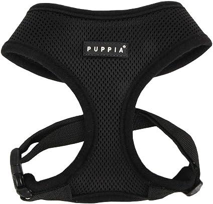 Puppia Soft Hundegeschirr, schwarz