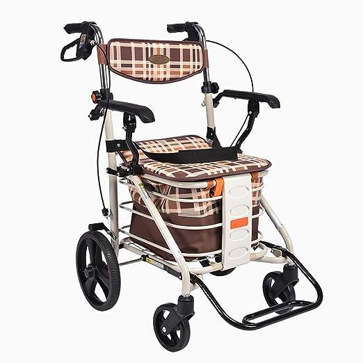 Andador con ruedas plegable con asientos acolchados de 48 cm x 58 ...