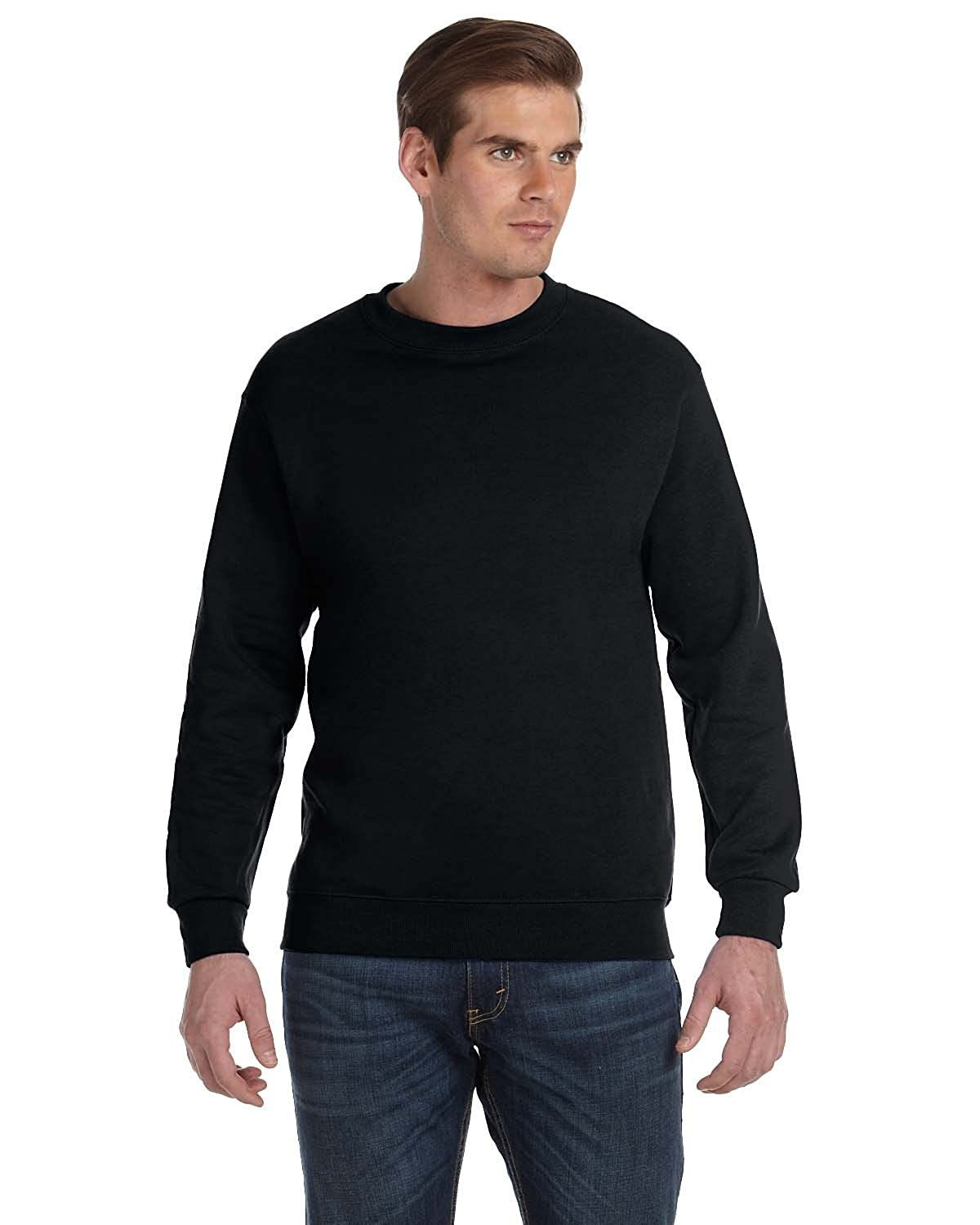 DryBlend? 50//50 Fleece Crew Gildan Mens 9.3 oz -Black -L-12PK G120