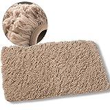 Luxe Plush Shag Bath Mat Rug Non Slip Backing Microfiber Absorbent 19.5 x 31.5 Inch