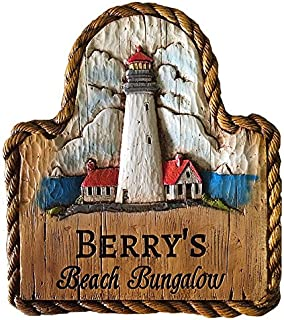 product image for Piazza Pisano Lighthouse Personalized Carved Sign