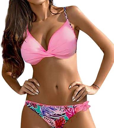 Bikinis Tallas Grandes Mujer Yiylunneo Bikinis El Verano Mujer Push Up Sujetador Acolchado Traje De Bano Bikini Para Mujeres Ninas Bikinis Mujer 2019 Amazon Es Ropa Y Accesorios