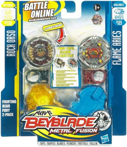 Beyblade Metal Fusion 26916 Double Pack with Rock Orso (D125B ...