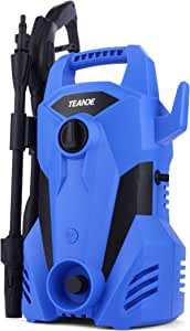 TEANDE 2300PSI Pressure Washer 2.2GPM Electric Pressure Washer 1400W Portable Power Washer with Adjustable Spray Nozzle, Soap Bottle, Pressure Cleaner for Cars/Fences/Patios (Blue-1)