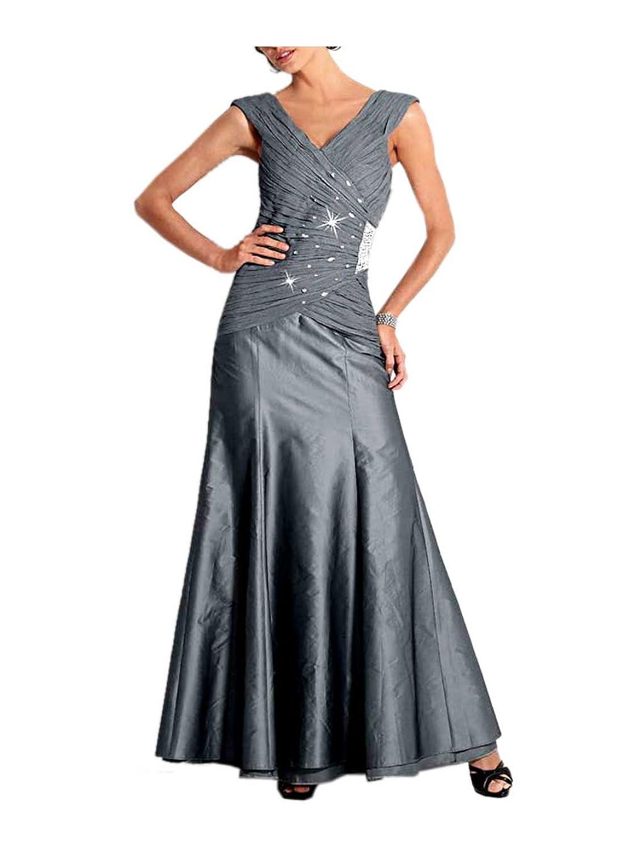 Heine Damen-Kleid Abendkleid mit Strass Grau Größe 19 (38): Amazon ...
