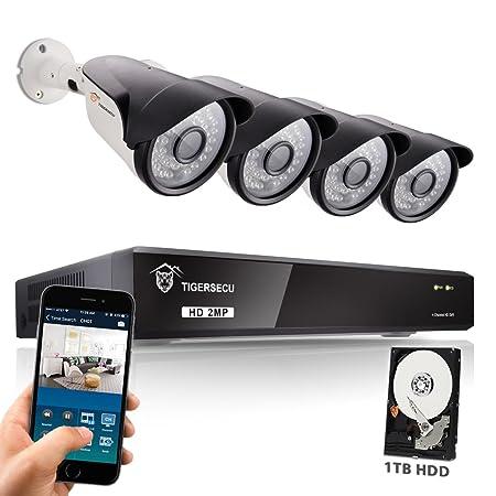 tigersecu wired home security cctv camera system super hd 1080p 4
