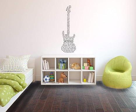 Etiqueta de la pared Música Decoración de la pared Simple Man ...