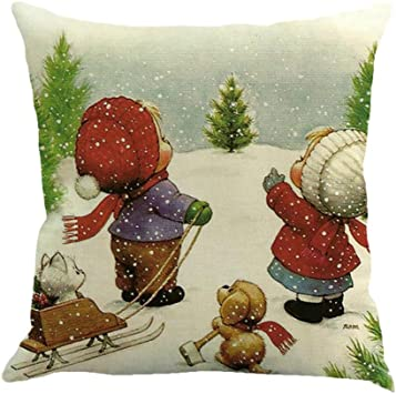 Christmas Calendar Xinantime Deer Old Man Snow Man Advent Countdown Calendar Christmas Decorations B, 45cm*45cm//18*18