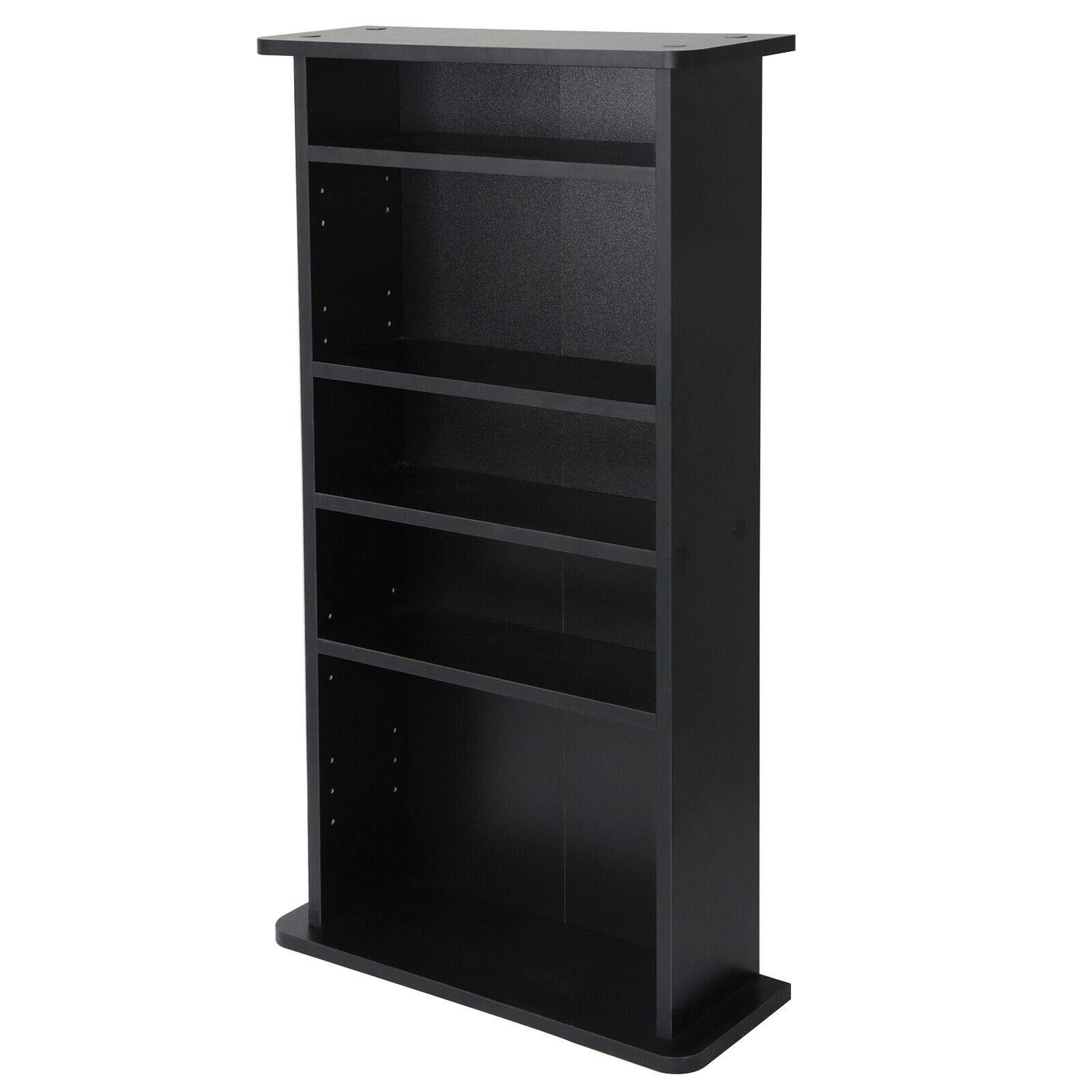 PloybeeShop Height DVD CD This Media Cabinet Storage Adjustable 5 Layers Stand Free Standing 36'' by PloybeeShop