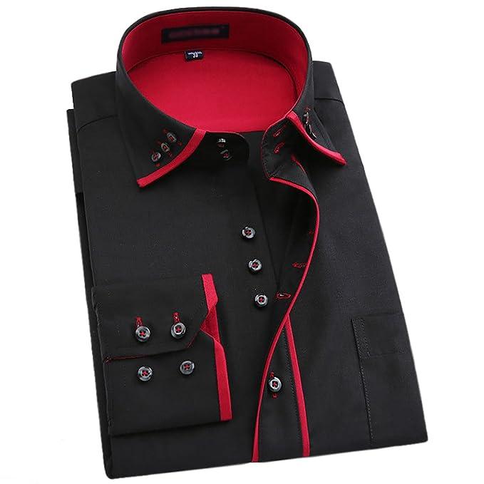 530f1548b29a6 Lyon Becker Mens Italian Casual Fancy Collar Slim Fit Formal Designer Shirt  Long Sleeve DC04  Amazon.co.uk  Clothing