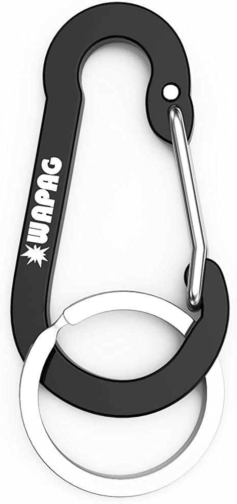 small carabiner for keys WAPAG Carabiner Clips Hiking Ultra Sturdy and Light D-Ring Wire Gate Carabiners for Camping Hammock Outdoor